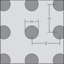 Vogl Acoustic Ceiling Perforation pattern 20-42R