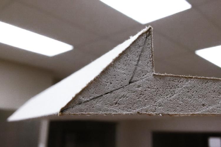 EDGE-FX preformed prefab gypsum drywall custom knife edge gypsum angles
